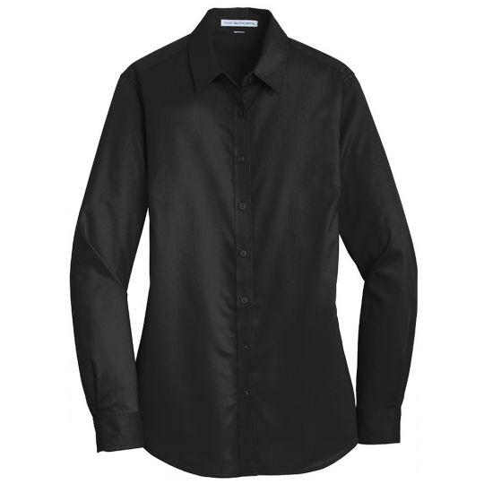 Port Authority Ladies Long Sleeve SuperPro Twill Shirt